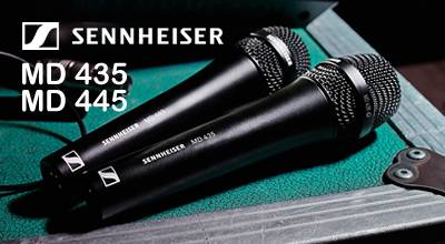 New Sennheiser MD 445 and MD 435 vocal microphones