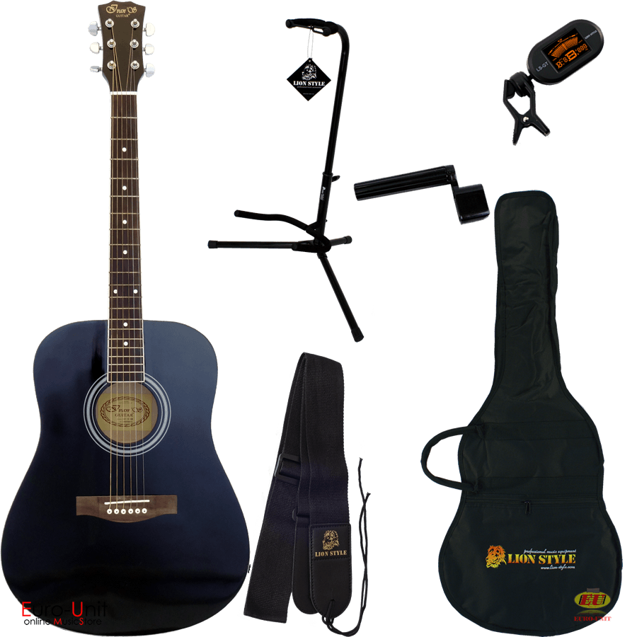 Ivan'S guitar AD-10 Black Set