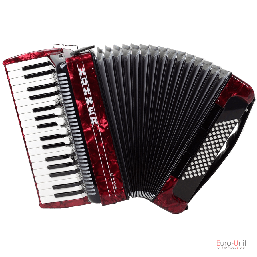 Hohner Amica III 72 Red Facelift