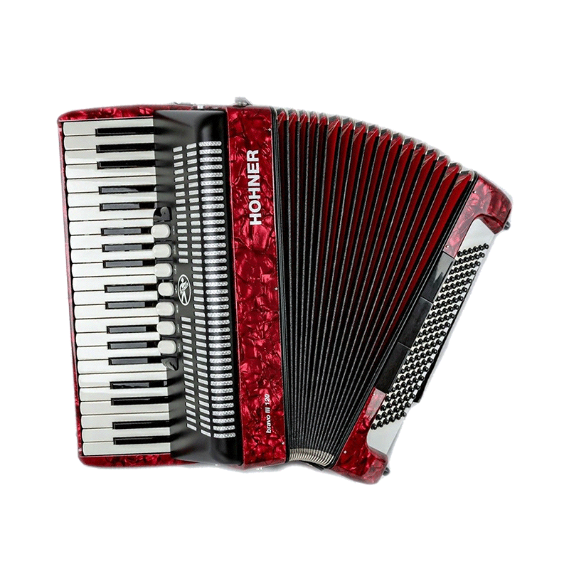 Hohner Bravo III 120 Red Facelift
