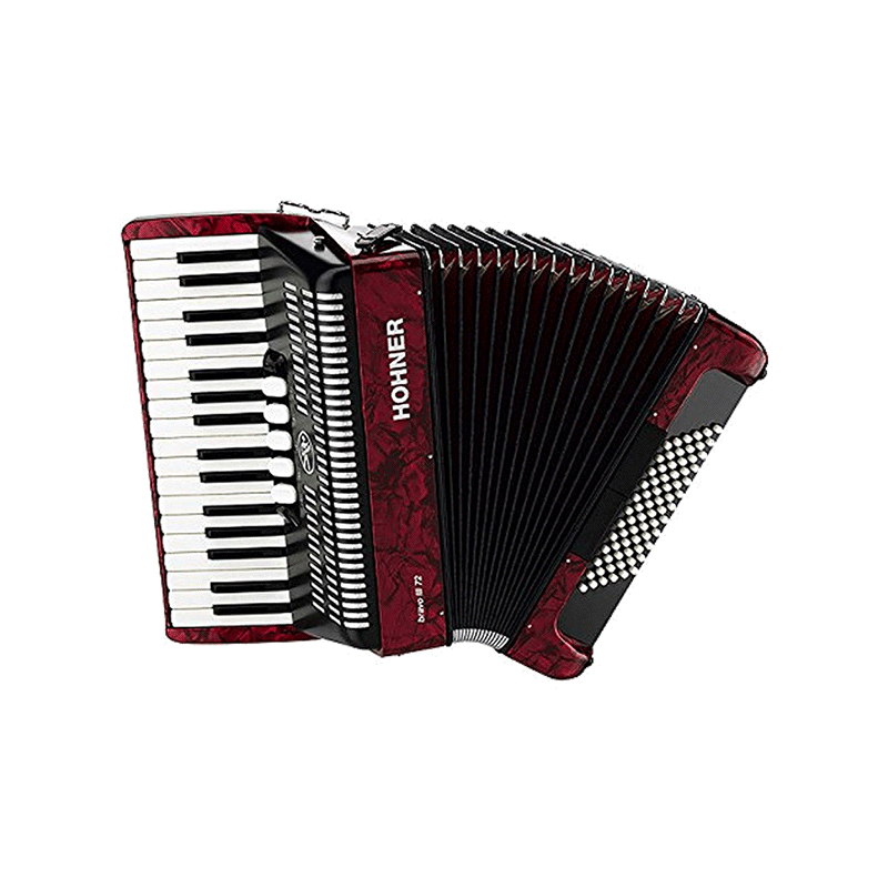 Hohner Bravo III 72 Red Facelift
