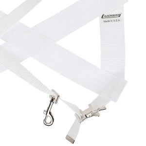 11210151_Ludwig LF350W Standard Bass Drum Sling White_01