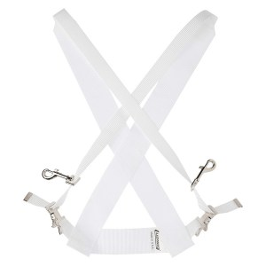 11210151_Ludwig LF350W Standard Bass Drum Sling White