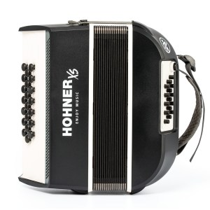 Hohner XS Button Accordion Grey_0185